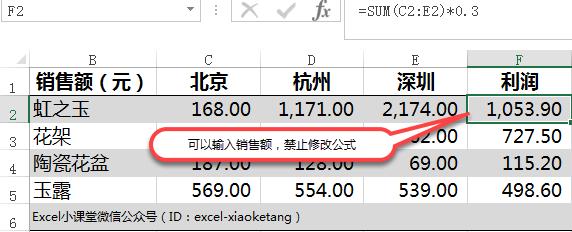 绝密,保护公式不被修改。Excel单元格保护可以输入但不能修改公式,隐藏不显示公式内容